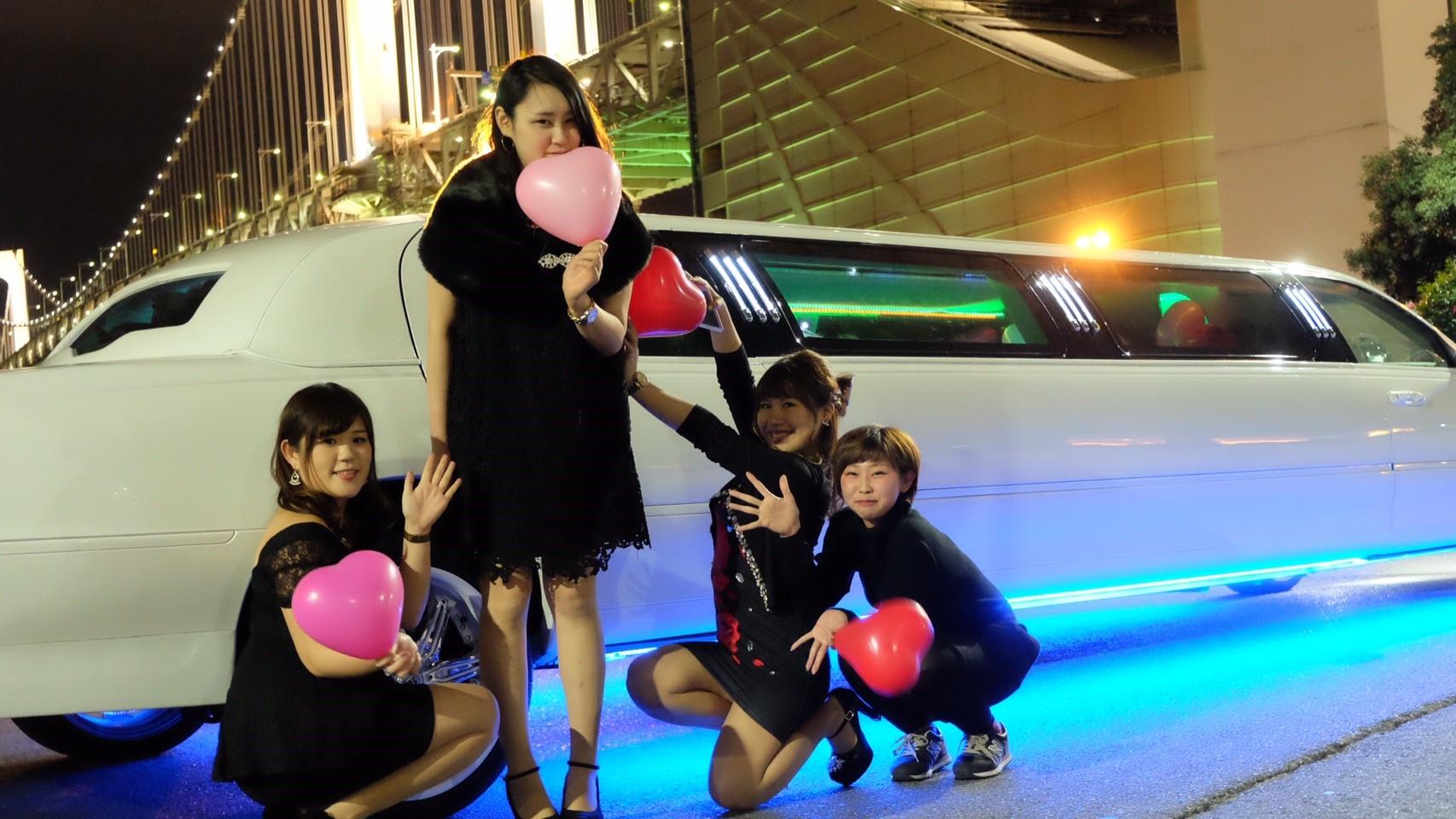 リムジンパーティー女子会撮影 サプライズバースディー