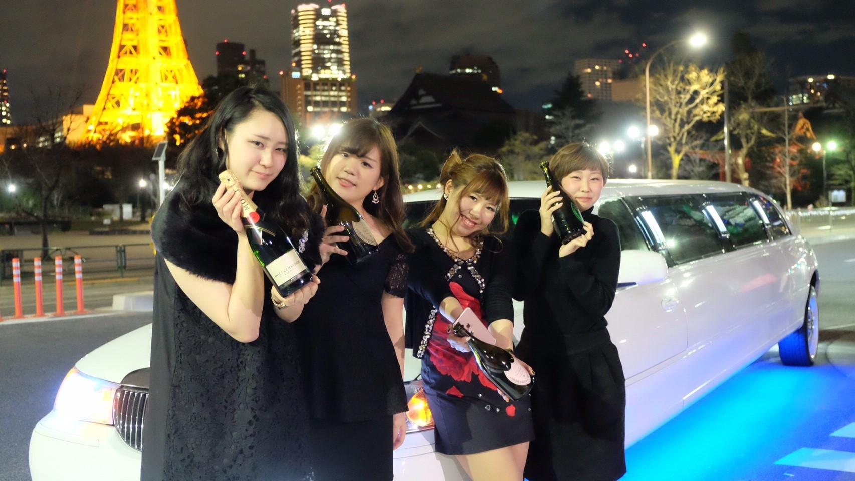 東京タワーでサプライズ演出 女子会最高
