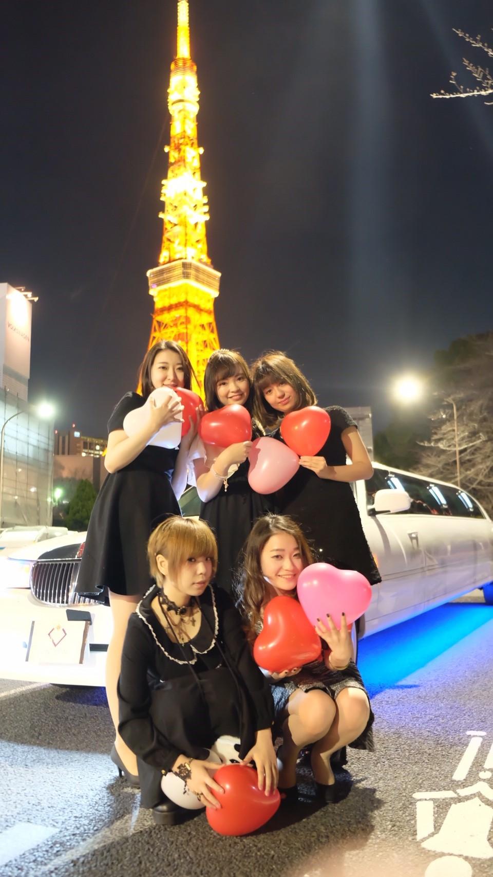 東京タワーリムジン撮影
