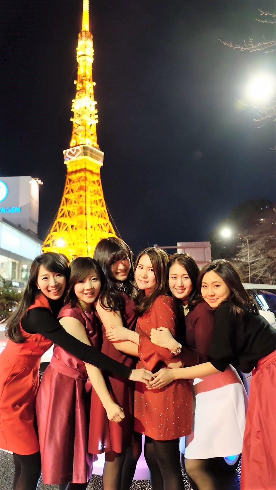 ラストの東京タワーはハートイルミネーションでプレミアムフライデー