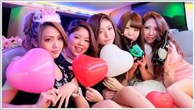 リムジンパーティーの値段が1番安くて東京でおすすめリムジンパーティー格安19800円。ドレスもレンタル可能なのでドレスコードも気にせずに撮影パーティーを楽しめます