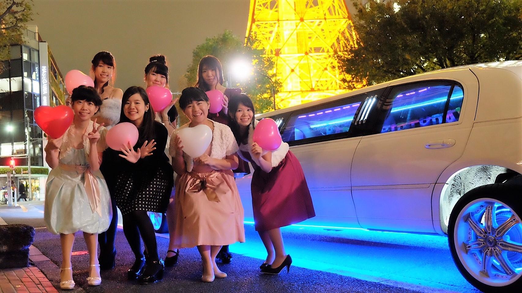 東京タワーフリーメーソン前で記念撮影