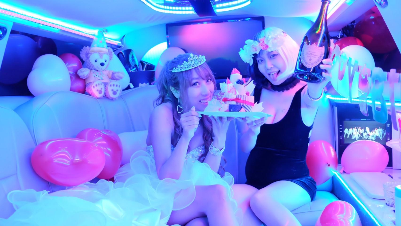 ずっと楽しみにしていたリムジン女子会念願の東京で楽しめました