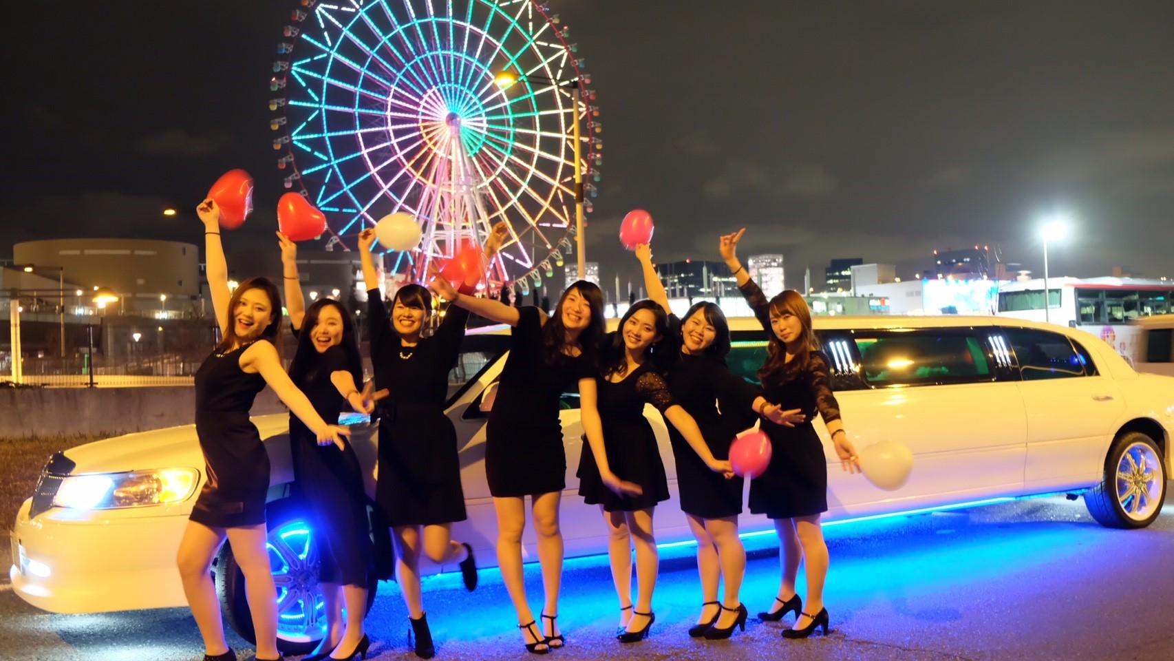 東京でリムジン女子会が楽しめる画像