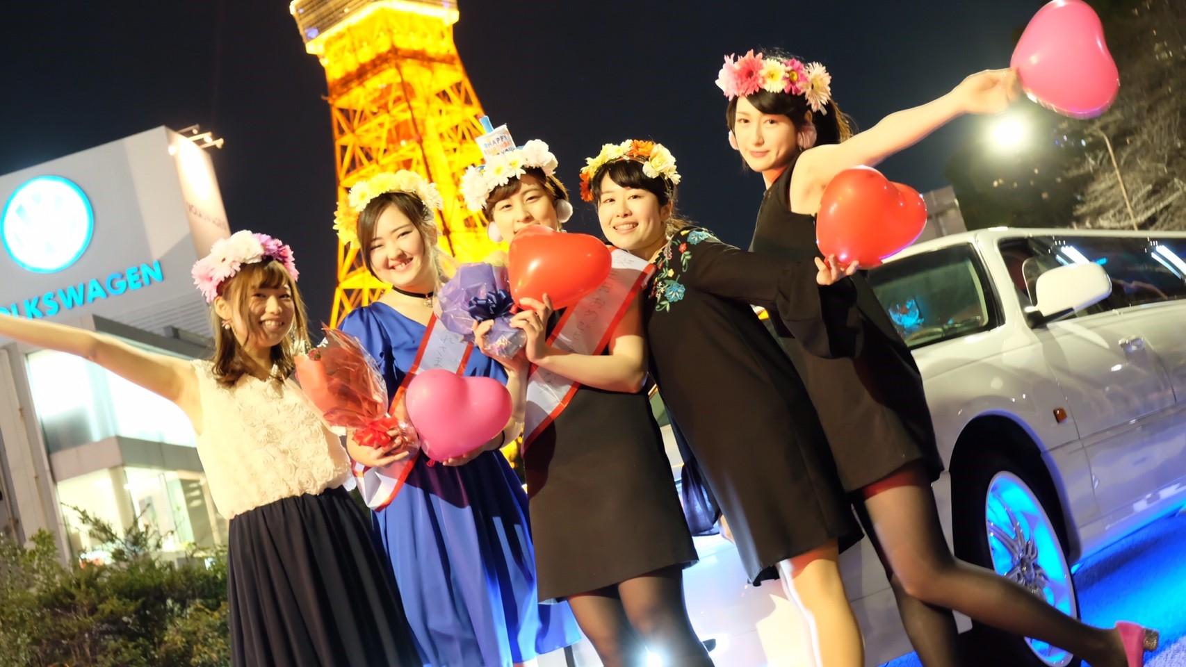 東京タワー撮影で記念撮影