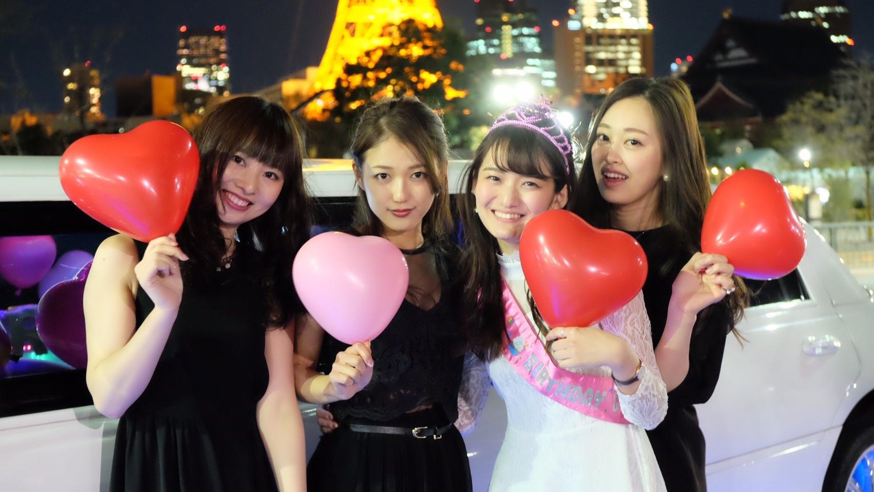 リムジン女子会で東京タワーに行ってきました