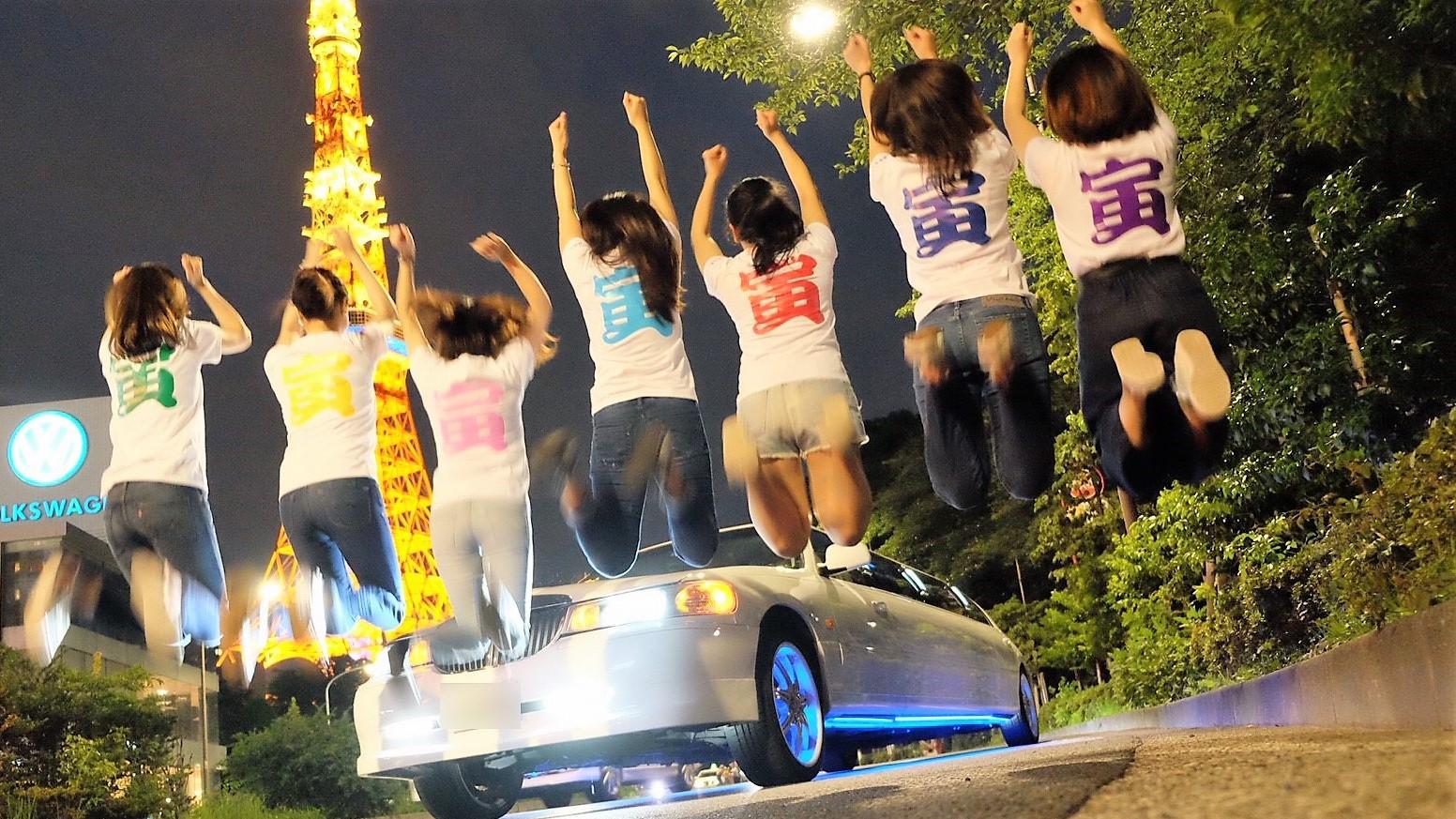 リムジンで東京タワー