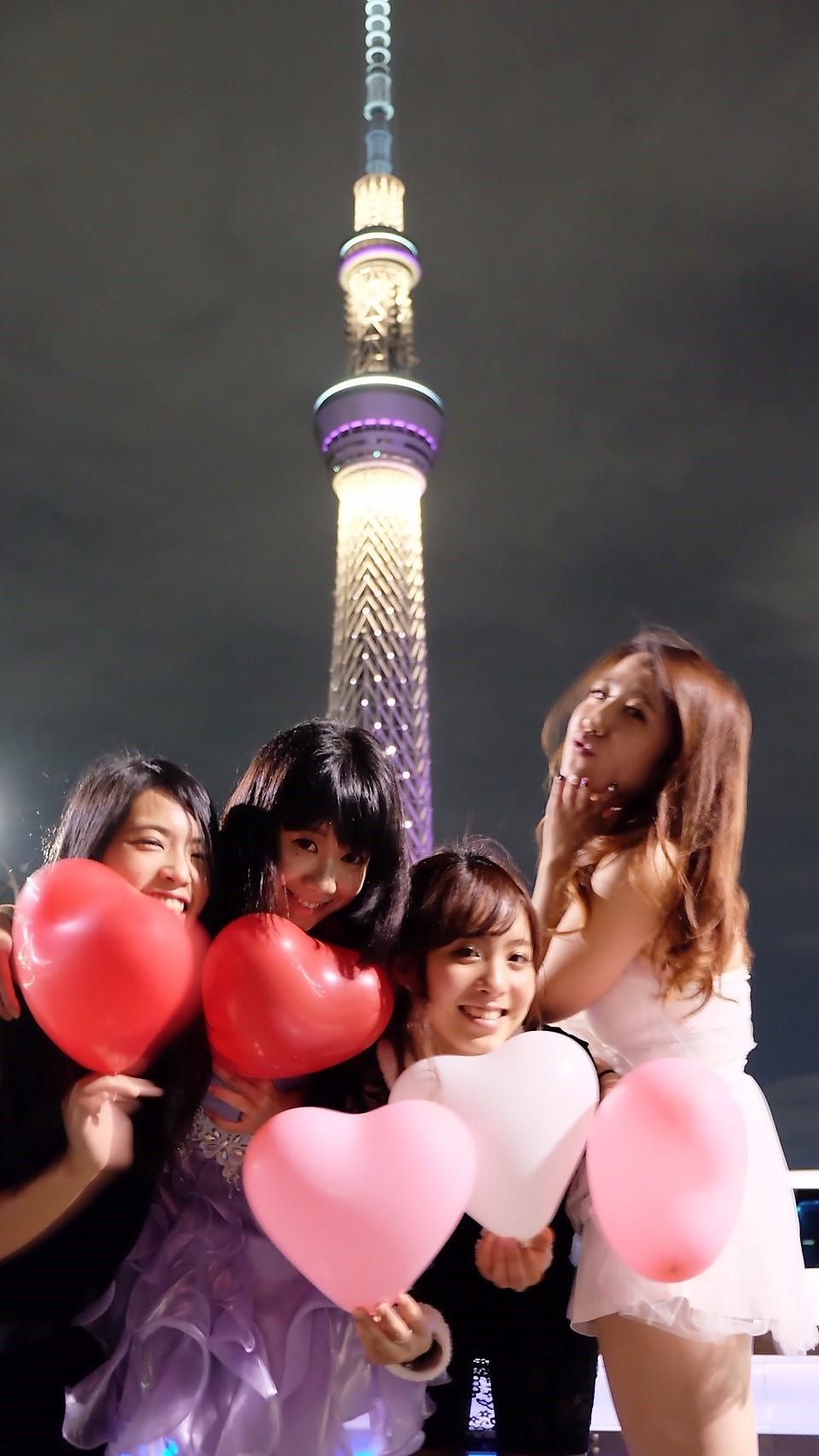 東京スカーツリーでリムジンパーティー