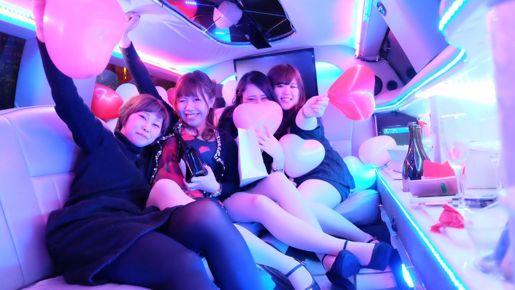 リムジン女子会撮影パーティー1