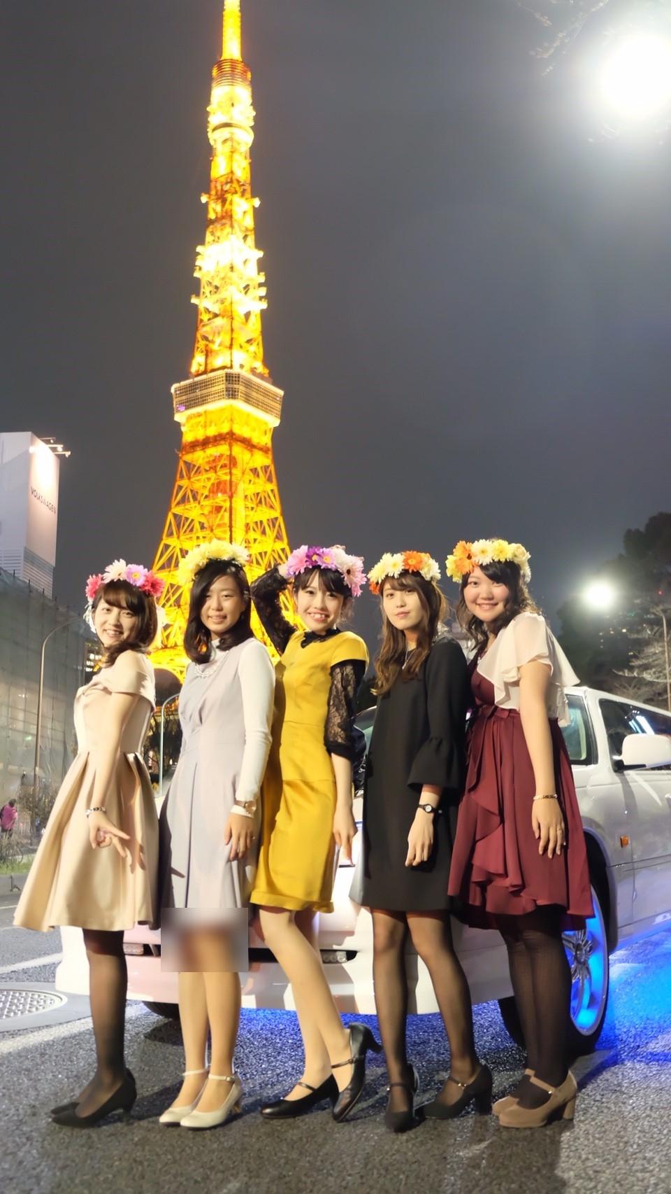 東京タワー撮影リムジンパーティー