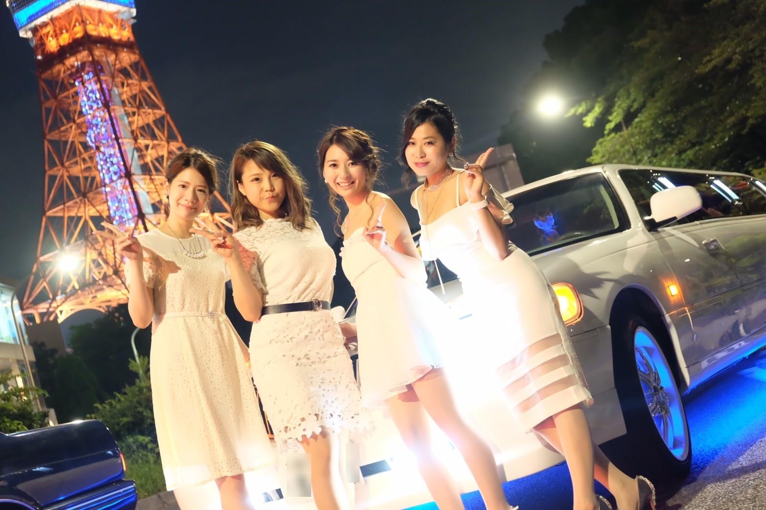 東京でリムジンパーティーするならドレスは5