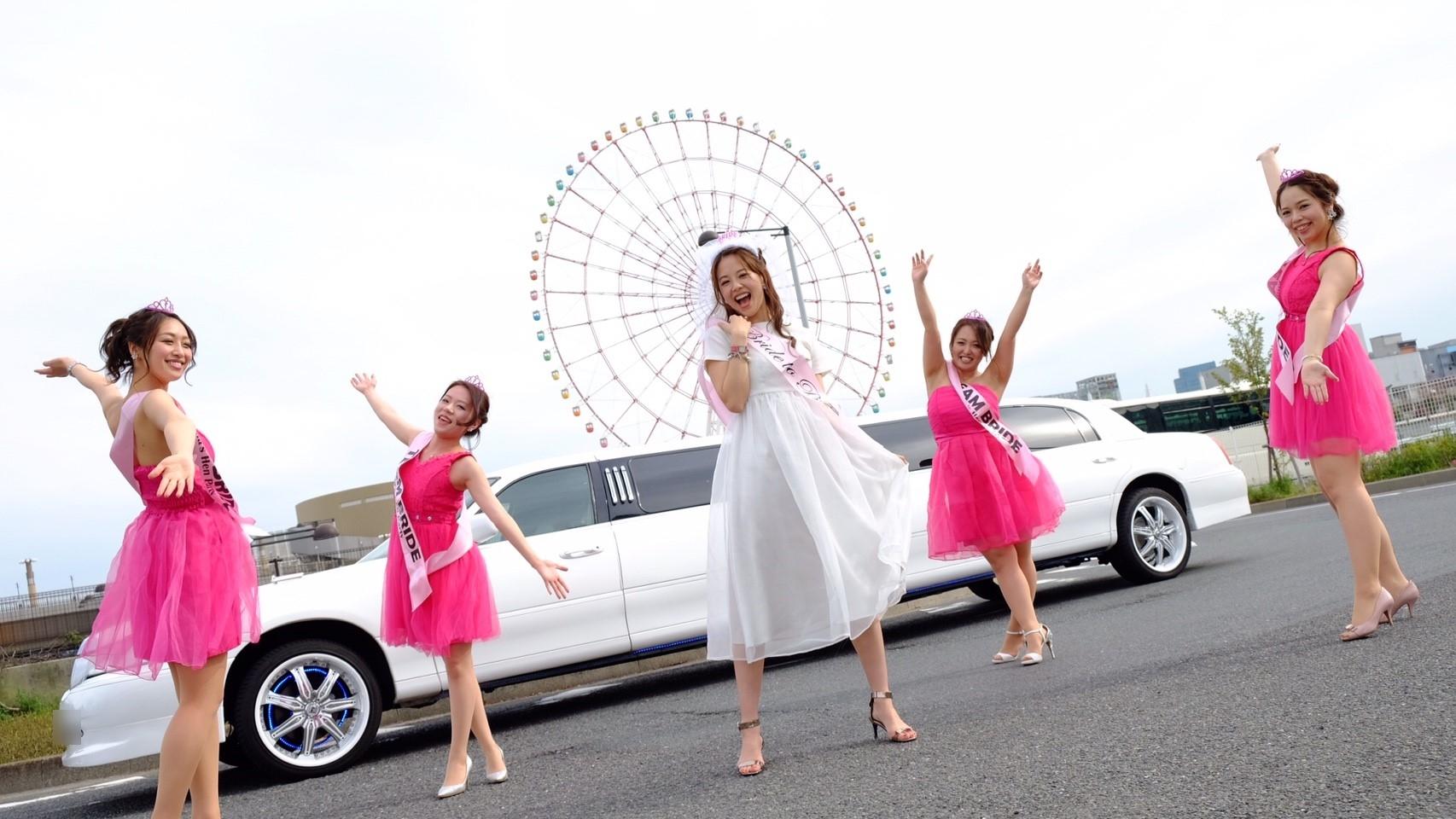 ピンク・ホワイトドレス