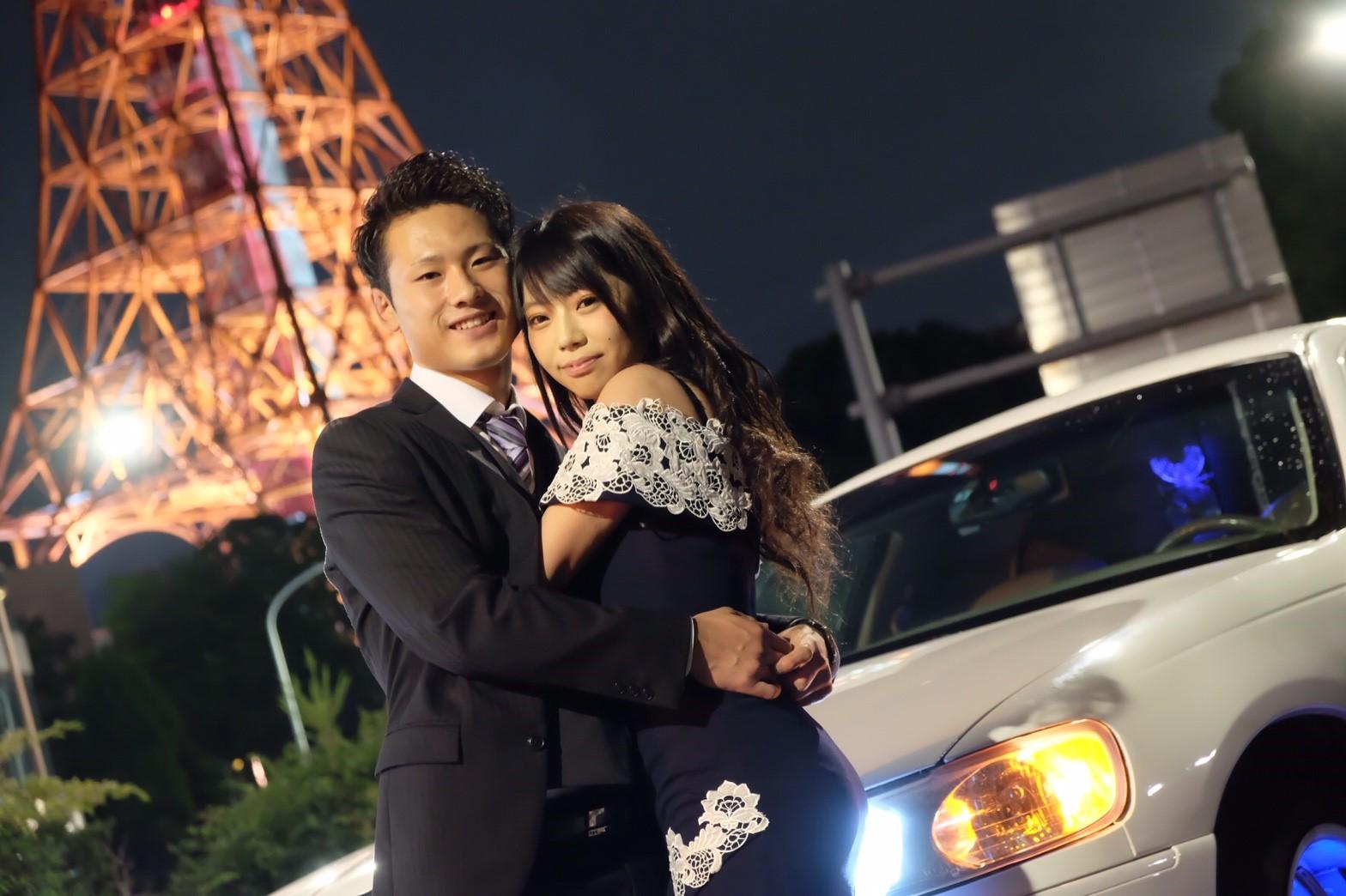 リムジンパーティー誕生日で東京タワー撮影 (1)
