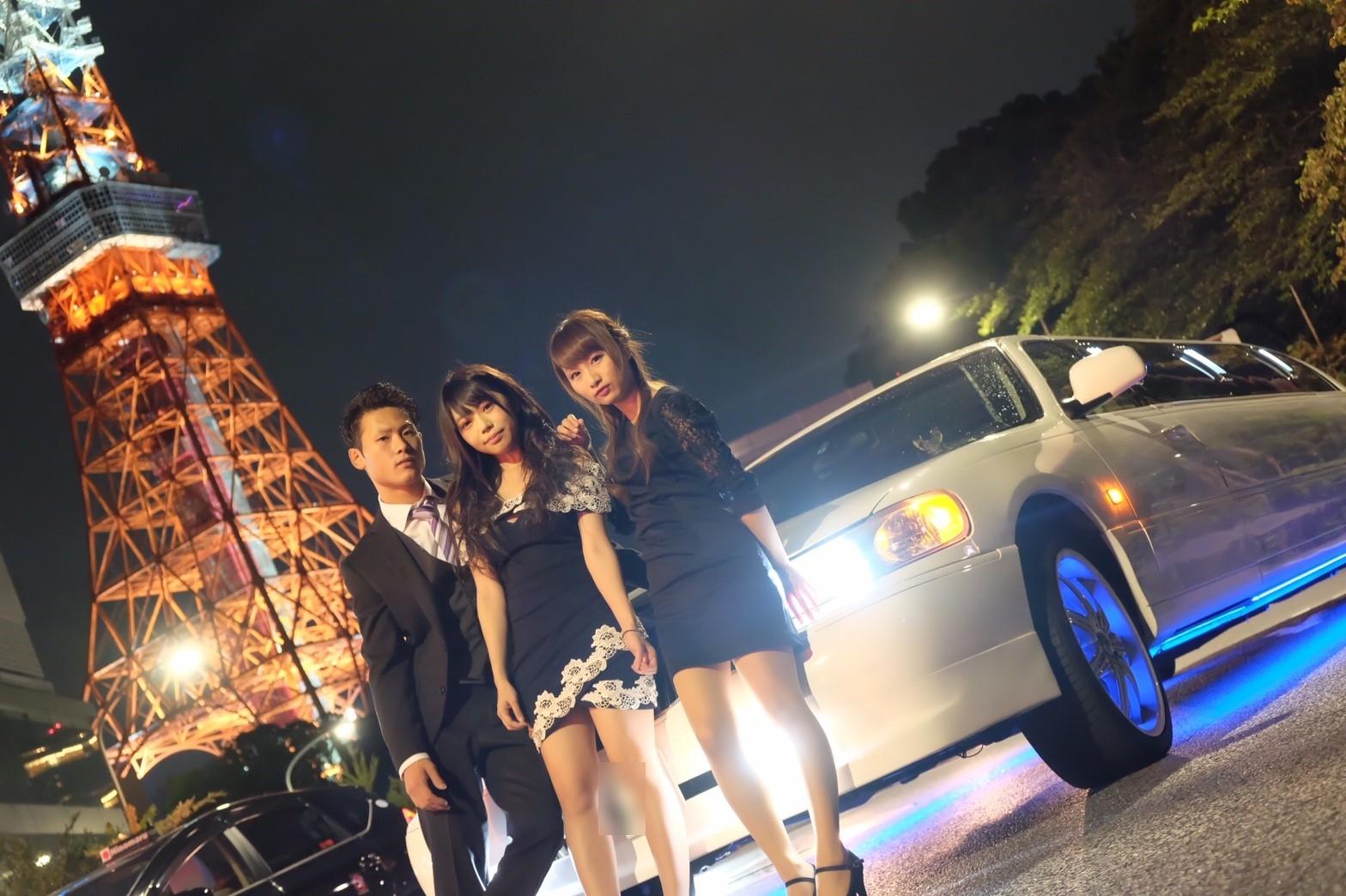 リムジンパーティー誕生日で東京タワー撮影 (3)