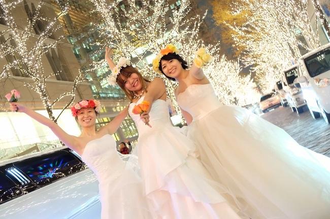ウエディングドレス女子会・リムジンパーティー