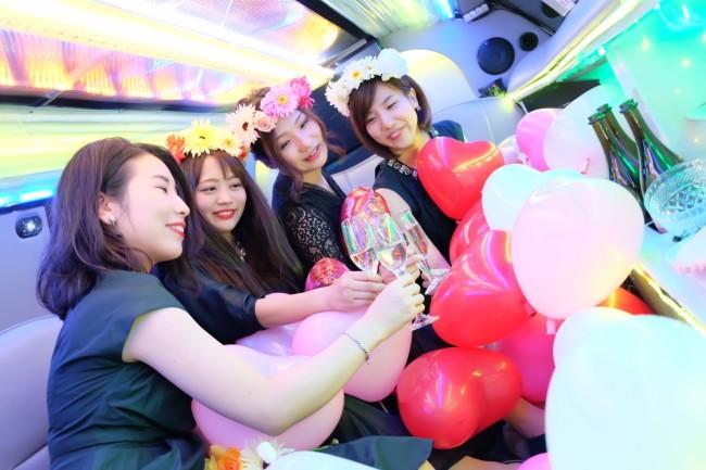 リムジンパーティー 女子会撮影 (1)