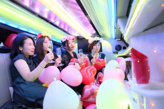 リムジンパーティー 女子会撮影 (2)