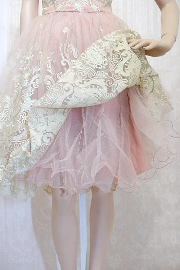 リムジンパーティードレス ピンクドレスNo10