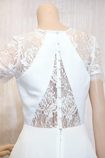 リムジンパーティードレス ホワイトドレスNo12