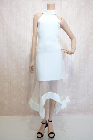 リムジンパーティードレス ホワイトドレスNo2