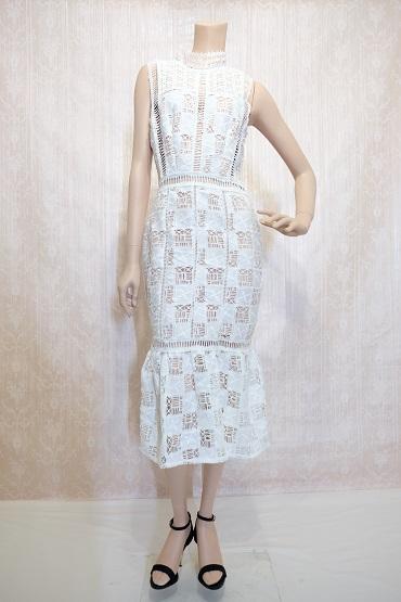 リムジンパーティードレス ホワイトドレスNo3