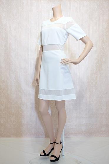 リムジンパーティードレス ホワイトドレスNo7
