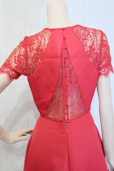 リムジンパーティードレス 赤ドレスNo1