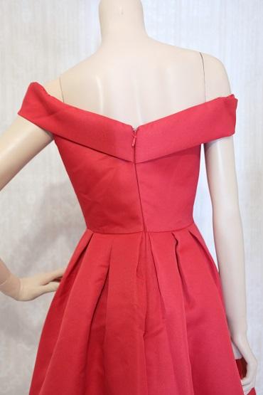 リムジンパーティードレス 赤ドレスNo2